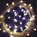 Flashlight 3M 24 led String lights 3pcs AA Battery Operated Rose Flower Fairy lights for Wedding room Garland patio decoration