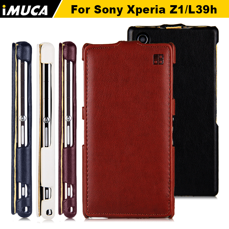 for sony xperia z1 case flip leather cover For Sony Xperia Z1 L39H C6902 C6903 C6906 iMUCA Case Mobile Phone bag for sony z1