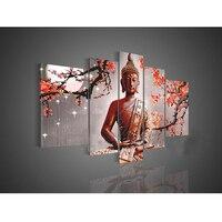 Картина маслом Будды в рамке ручной работы на холсте для украшения гостиной стены 120x80 см