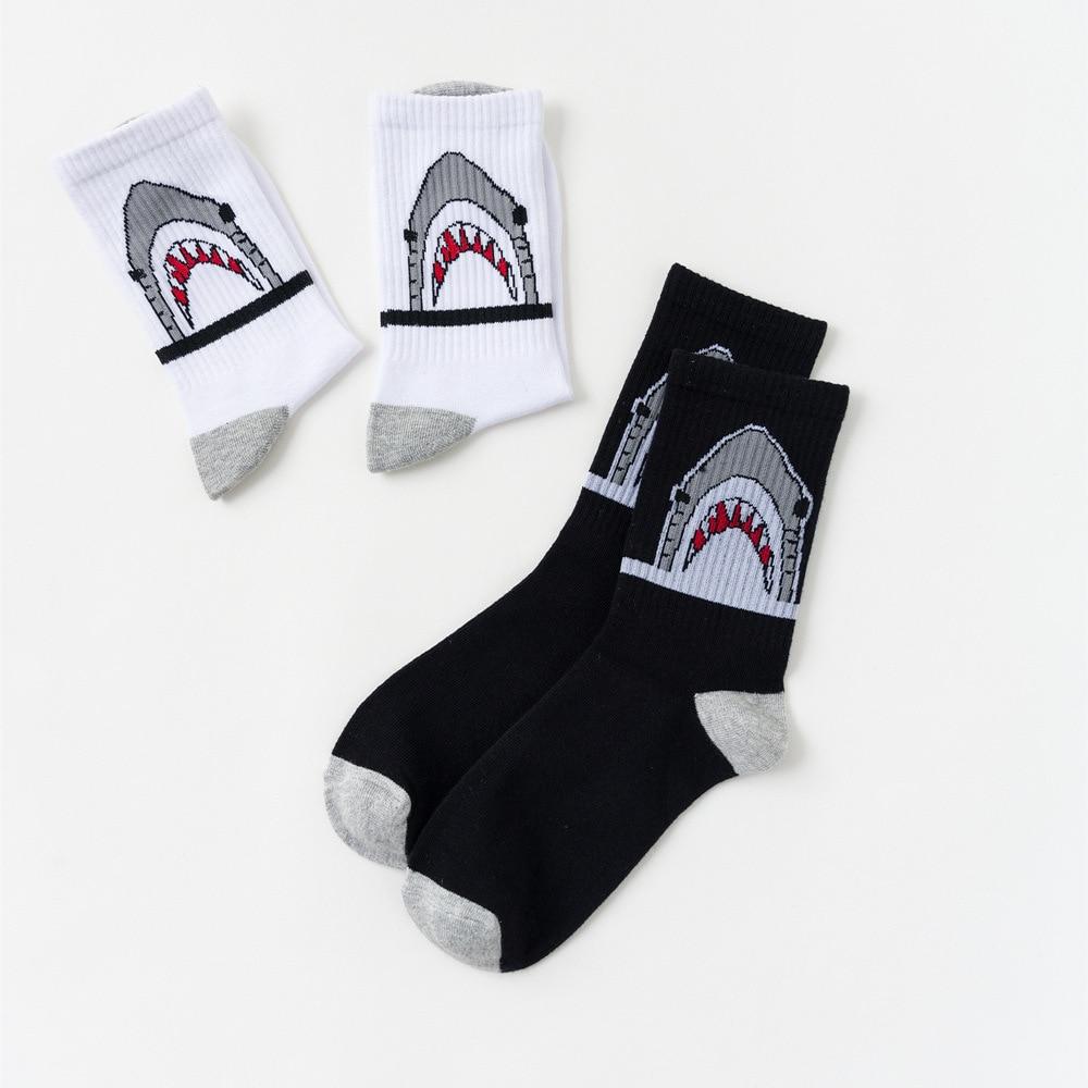 Winter Funny Socks Men Women Cotton Harajuku Cartoon Cute Shark Ankle Animal Print Warm Socks Hip Hop Street Skateboard Sox Male