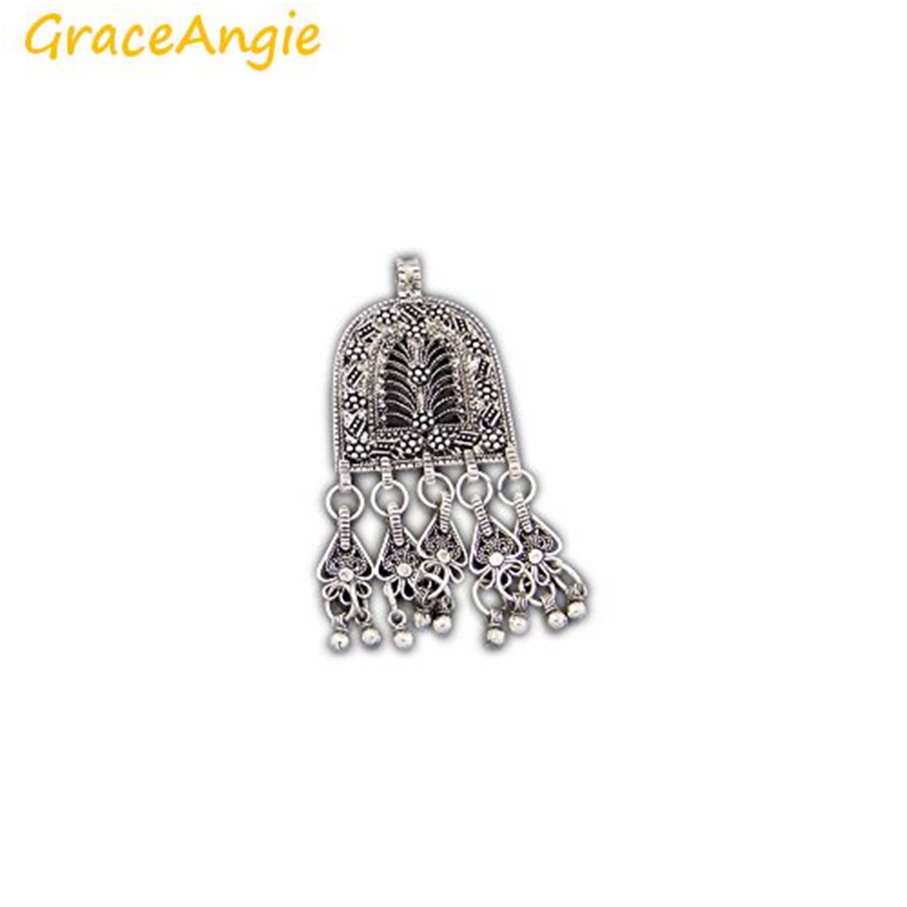 GraceAngie 3pcs / pack En Gros Vintage Ton Argent Alliage De Zinc Glands Bijoux Making Pendentif Charmes Suspension Pour Lady Craft