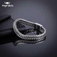 Acessório feminino pulseira brazalet alta qualidade antiga prata dos homens buda pulseiras de jóias pulseira frete grátis B1019-13