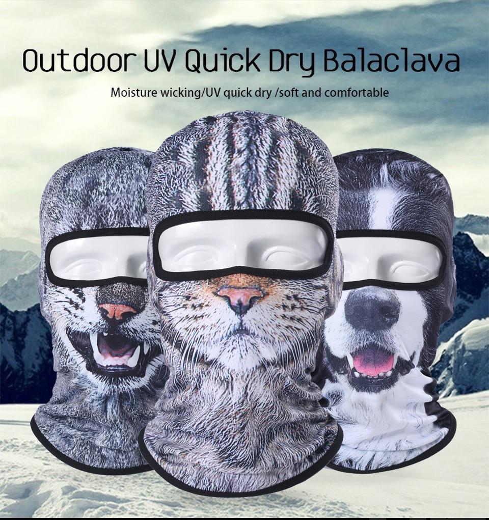 3D Cat Dog Cute Animal Balaclava Windproof Skullies Beanie Funny Helmet Liner Winter Hat Warmer Full Face Mask Cap Women Men