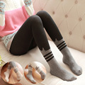 NEW Autumn and Winter Women's Cotton Tights cartoon stripe High Quality  Elastic Waist Slim Warm Tights Sexy Pantyhose for girl