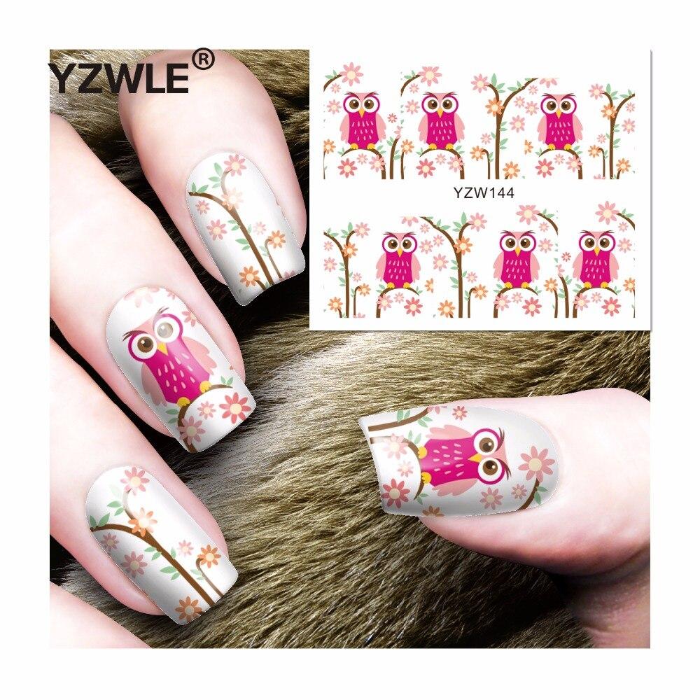 YZWLE 1 Sheet DIY Decals Nails Art Water Transfer Printing Stickers Accessories For Manicure Salon (YZW-144) gramercy диван tilburg sofa