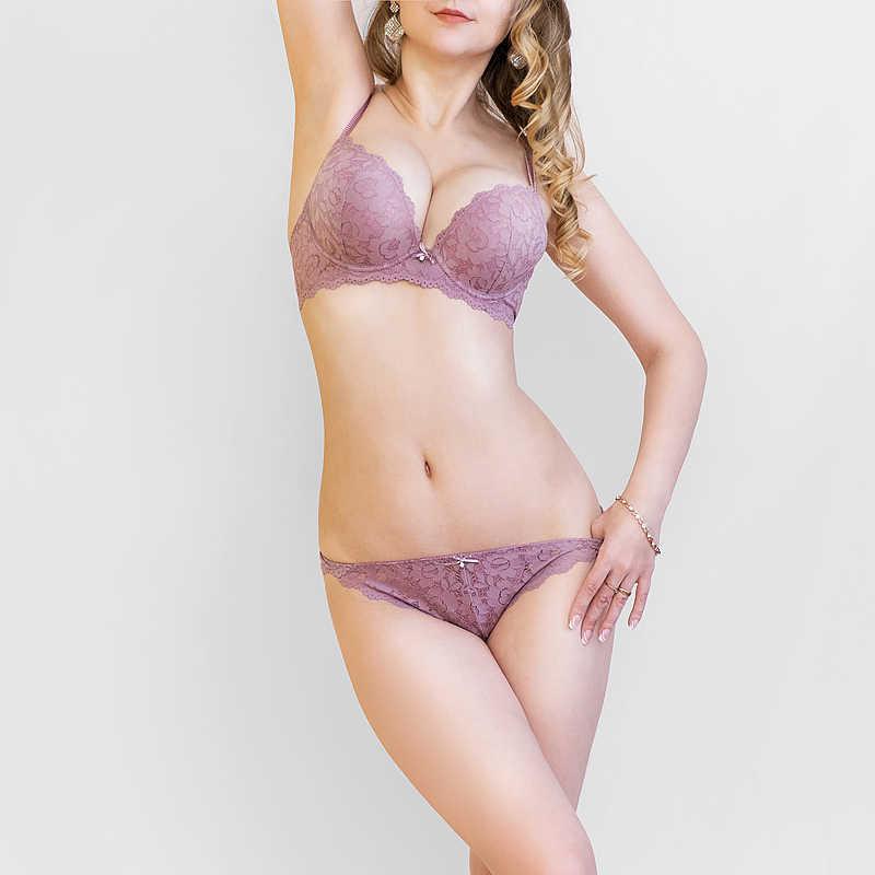 d5e4c37bc ... New Europe push up bra women Girl lace bra set gather adjustable  underwear sets for women ...