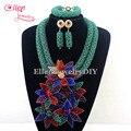 2016 Últimas Granos Cristalinos de Nigerianos Collares Perlas Africanas de la Boda Joyería de Traje Africana Set collar pendientes W12894