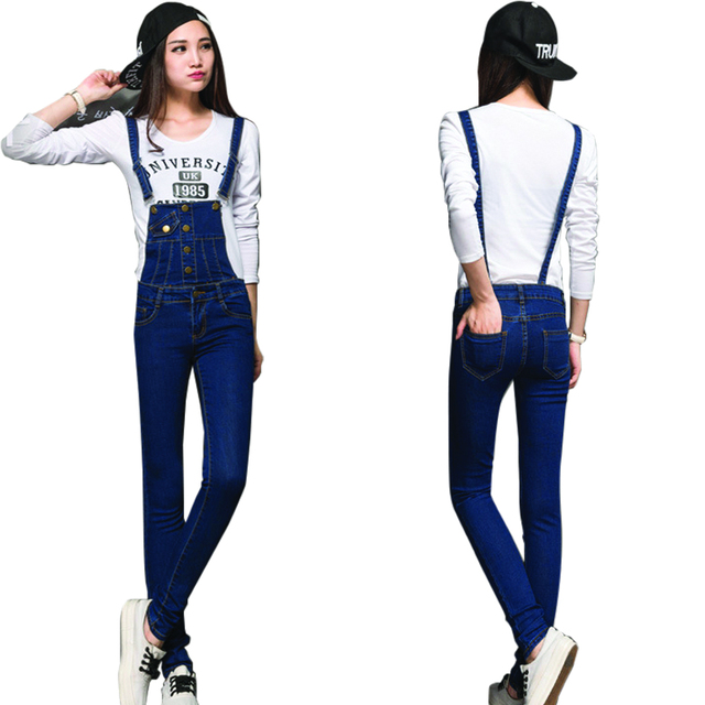 f996bcf052e Womens Jumpsuit Denim Overalls Casual Pants salopette Jeans Denim Rompers  Overalls Bodysuit Ripped Hole Distressed Plus