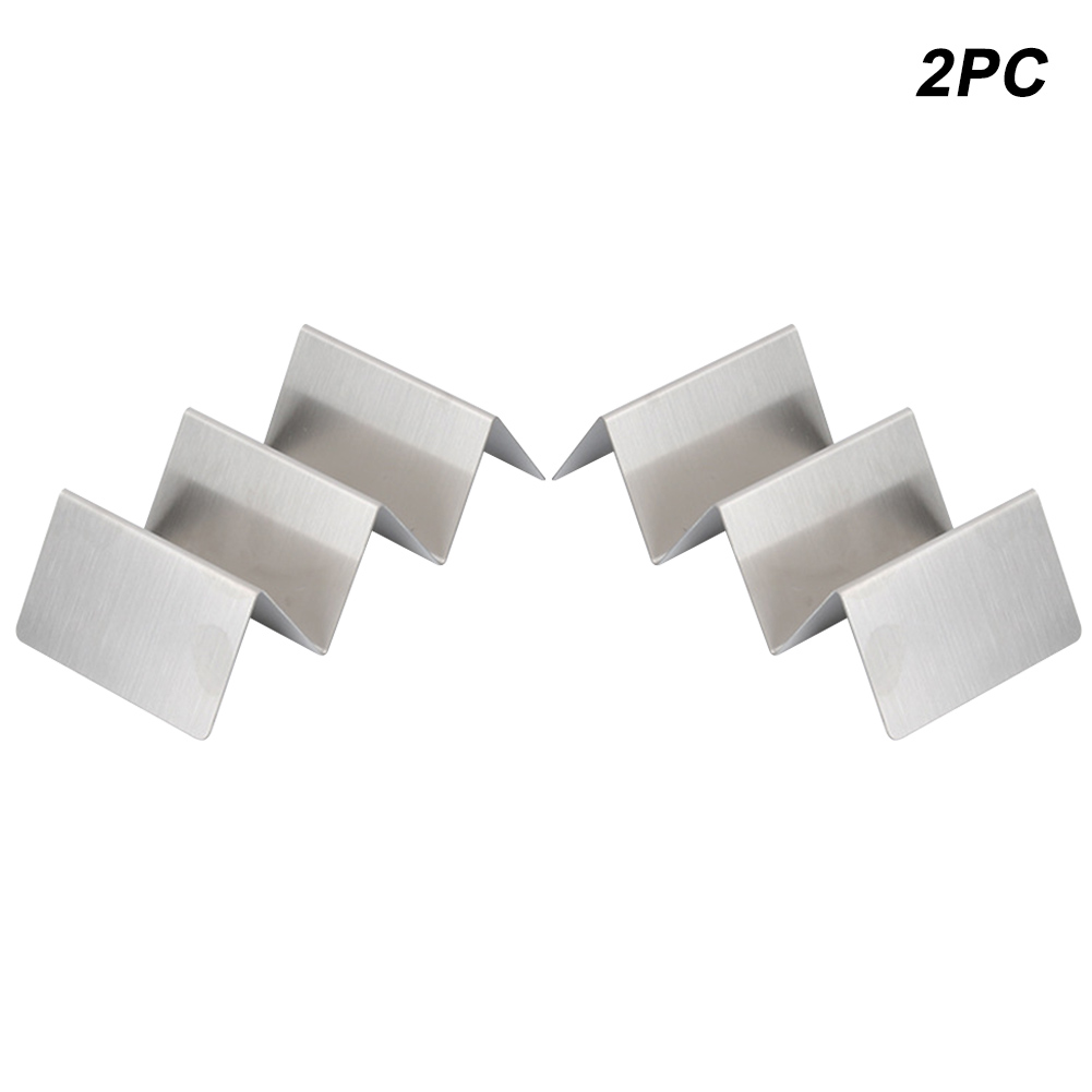 2Pcs/4pcs Plate Display Shell Stainless Steel Food Stand Wave Shape Taco Holder Rack(China)
