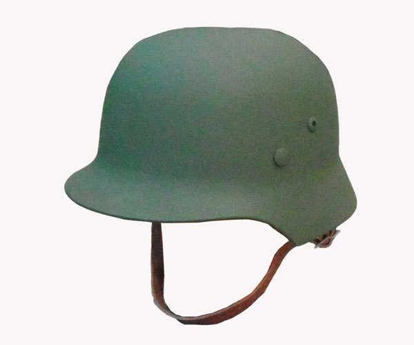 WW2 casco alemán M35 de acero fuerte casco de la motocicleta campo verde
