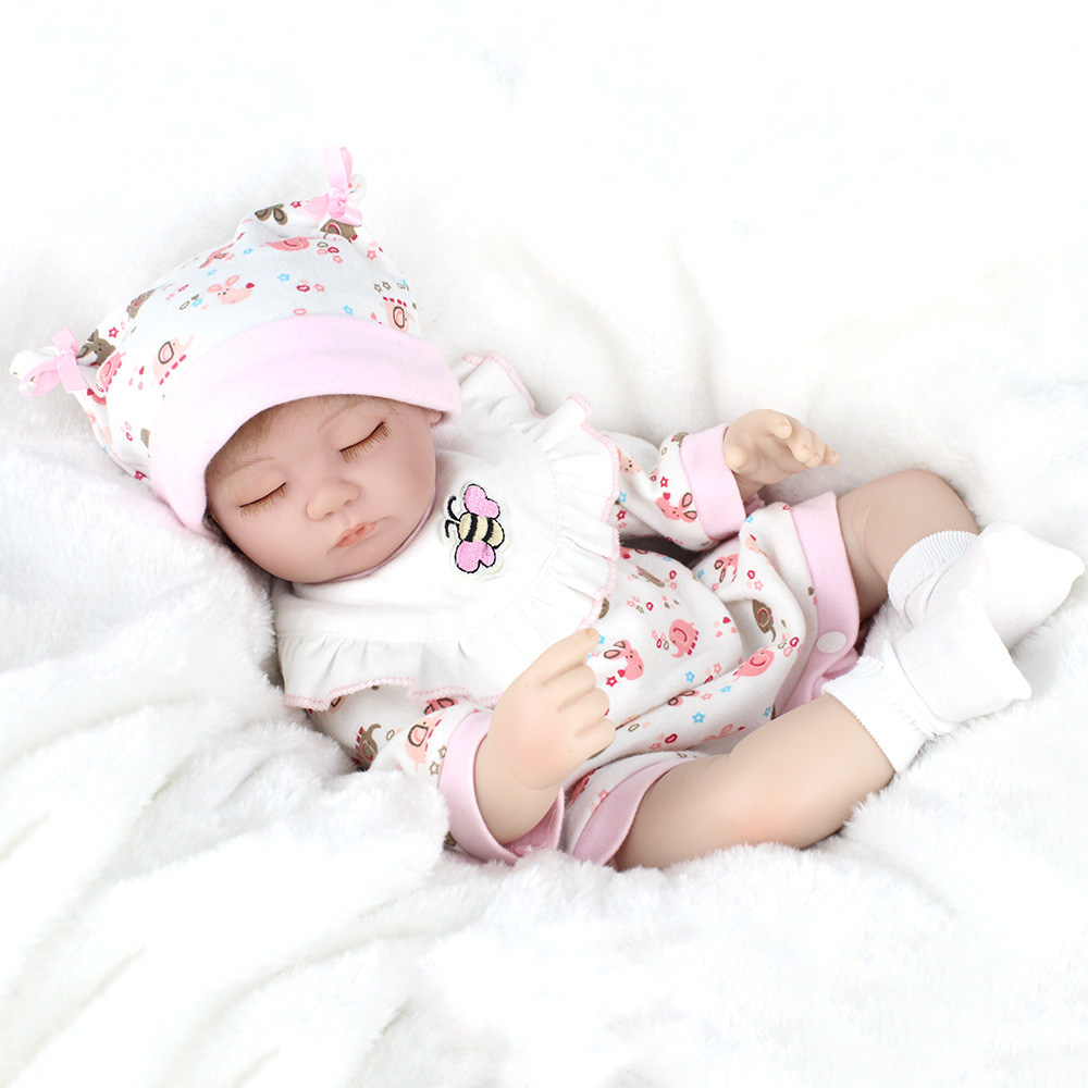 ФОТО 42cm Realistic Doll Reborn Babies Handmade Baby Safety Silicone Dolls Girl Gift Toys For Kids 17