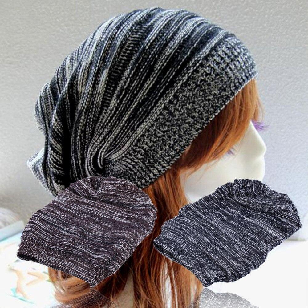 NEW Unisex Womens Mens Knit Baggy Beanie Beret Hat Winter Warm Oversized Ski Cap