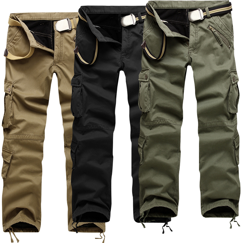 8f93b69c6c LASPERAL Brand 2019 Military Cargo Pants Men Casual Multi-Pockets Warm  Sweatpants Male Fashion Solid Streetwear Hip Hop Trousers ~ Premium Deal  June 2019
