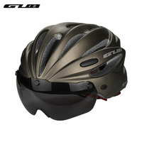 GUB K80 Cycling Bicycle Helmet Outdoor Multifunctional Riding Ultralight Helmets Glasses Mountain Bike Helmet Protective Goggles