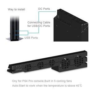 Image 5 - DOBE PS4 برو مروحة التبريد الخارجية 5 برودة مروحة سوبر توربو درجة الحرارة التبريد USB كابل ل بلاي ستيشن 4 برو الألعاب وحدة التحكم