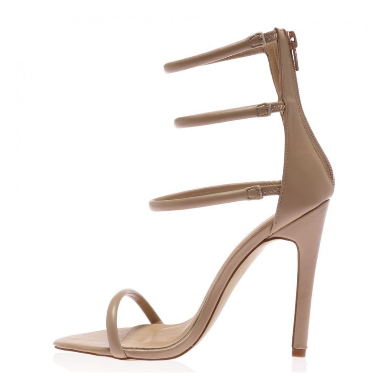 ФОТО 2017 MOST popular women pumps summer sandals khaki color for your selection zipper closure type  open side concise design
