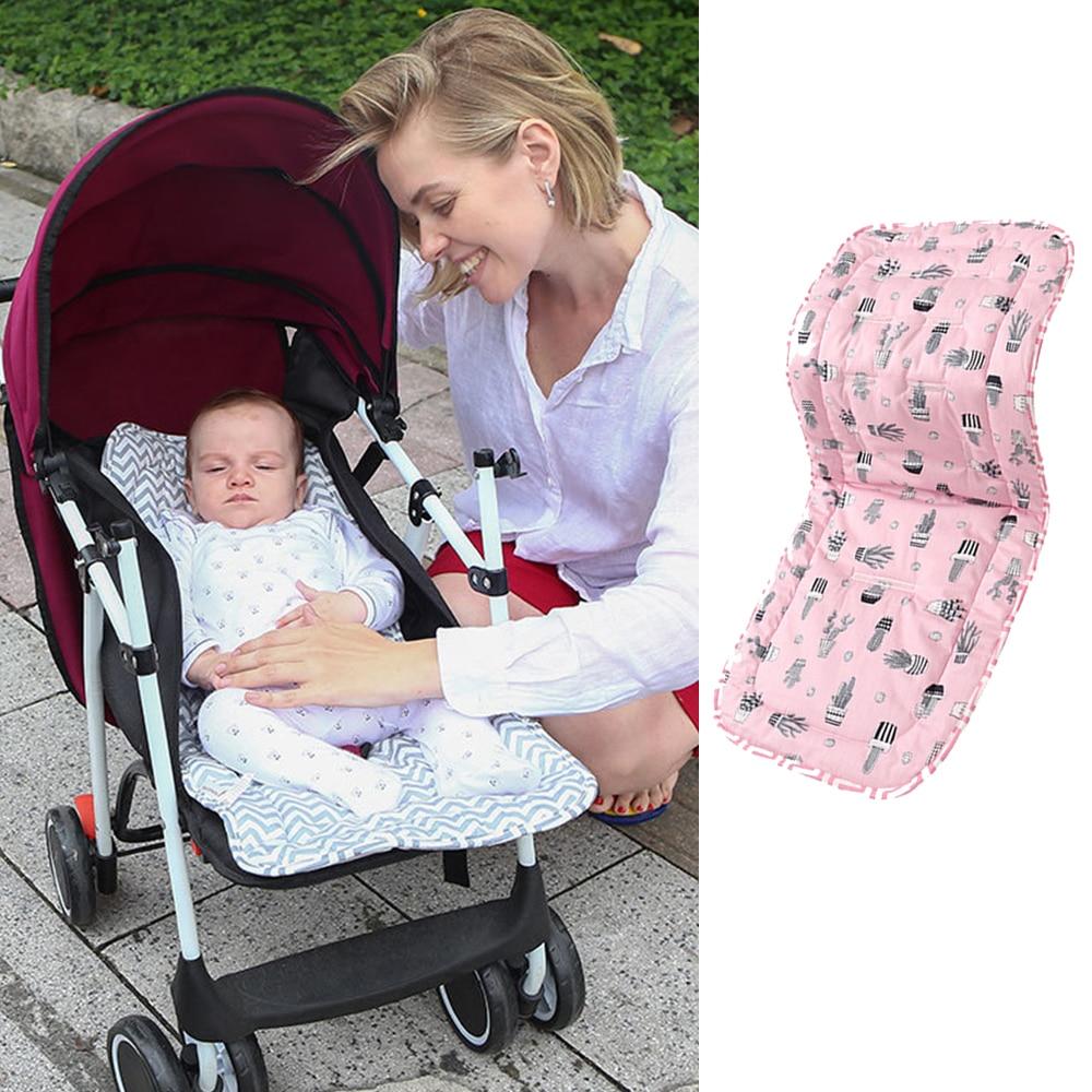 Soft Baby Diaper Pad Infant Stroller Cushion Cotton Pushchair Mat Mattress Car Seat Pad For Newborn Prams Stroller Accessories