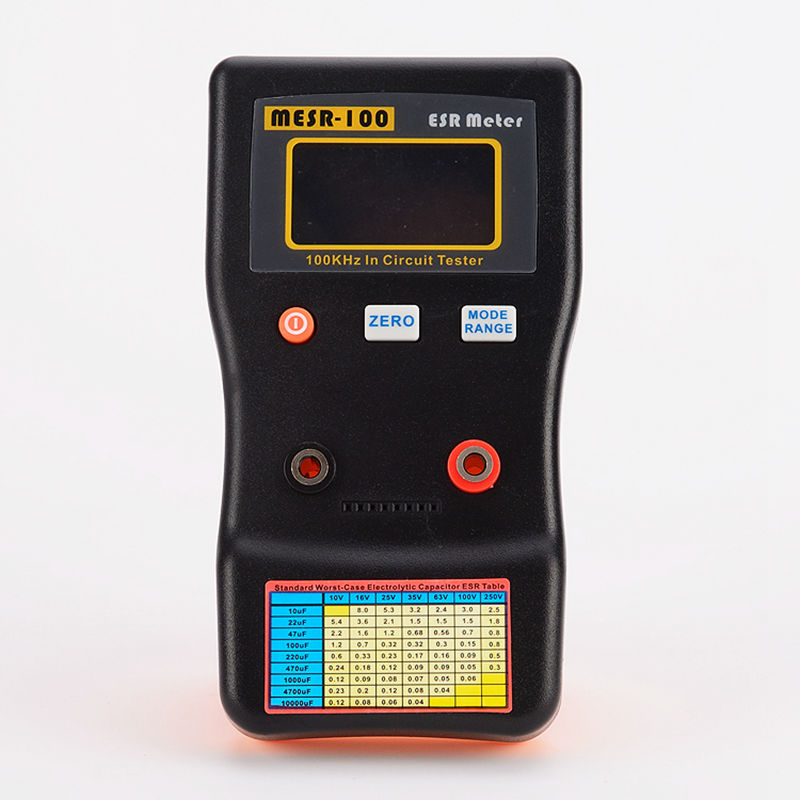 AutoRanging ESR Electrolytic Capacitor Low Ohm Meter Electronic Capacitive Resistance Tester 0 01 to 100R Online