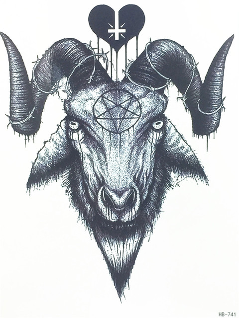 Evil goat tattoo - photo#43