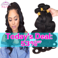Mink Brazilian Virgin Hair Body Wave 4 Bundles Deal Brazilian Body Wave Rosa Hair Products Unprocessed Human Hair Weave Bundles