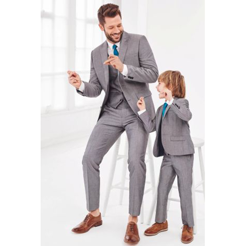 Latest Coat Pant Designs Grey Formal Men Suit Groom Marriage Tuxedo Prom Best Man Jacket Simple Custom 3 Piece Terno mens suits