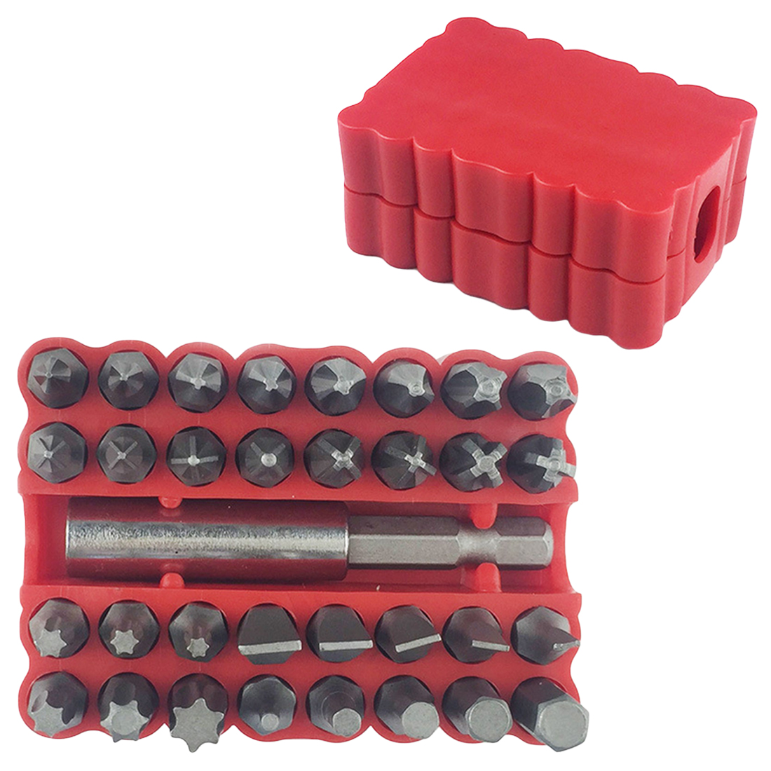 33pcs Security Tamper Proof Bit Set Torx Hex Star Spanner Screwdriver Tip Hand Tool Set Chrome-vanadium Steel