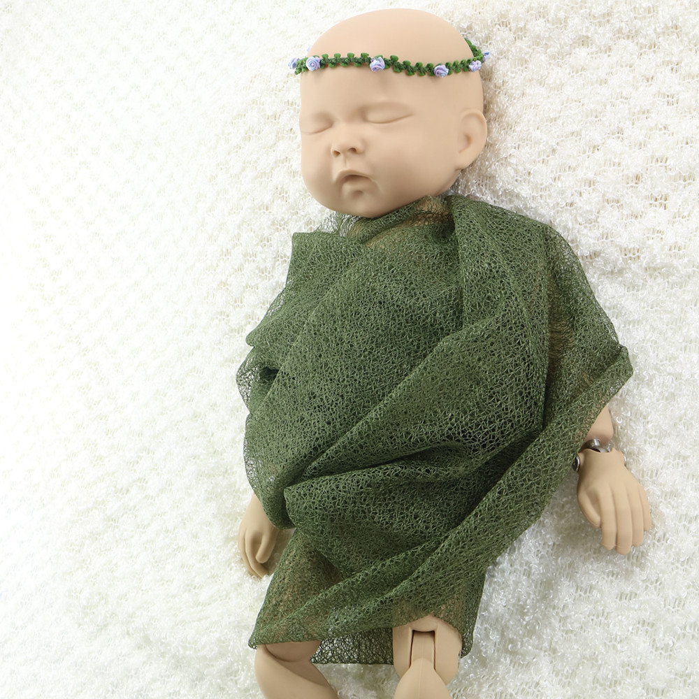 Mix color  10pcs/lot 160x50cm Mesh Gauze Wraps Newborn baby Wraps for Newborn Photography Props Stretch Backdrop for Photo Shoot