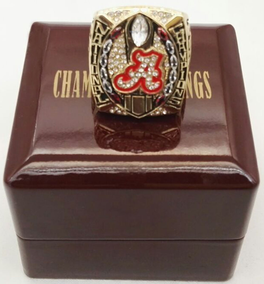 Wholesale 2015 Alabama Crimson Tide National Custom Sports Championship Ring With Wooden Boxes