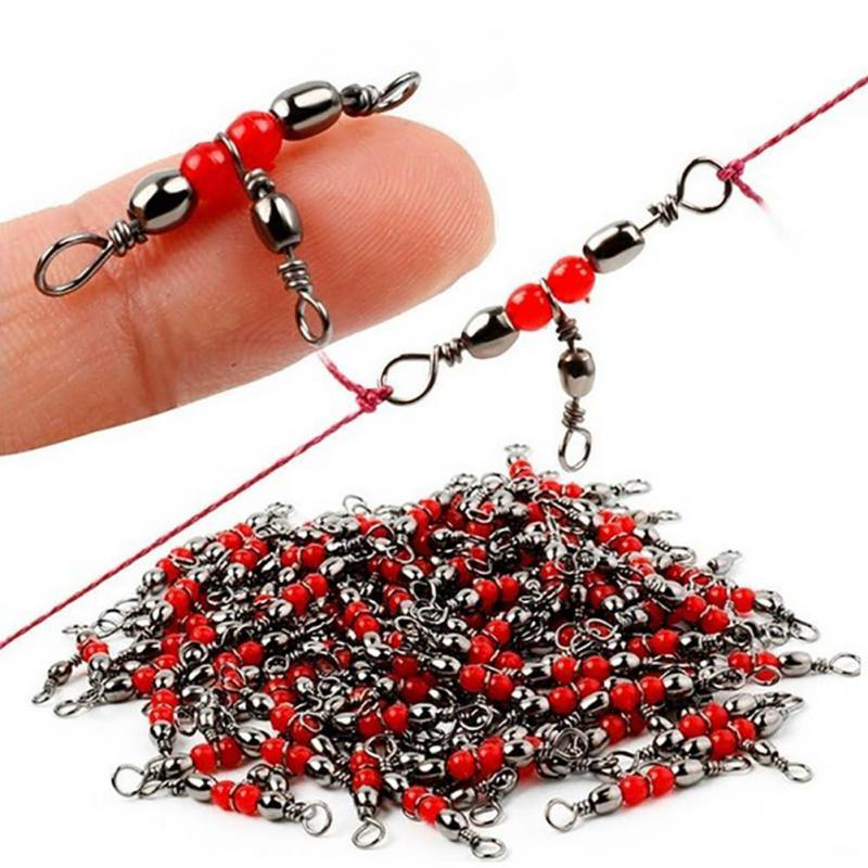 10/20/50pcs Mini Fishing Connector Carbon Steel Rust Corrosion Resistance 360 Degree Rotation Protect Fishing Line Accessories