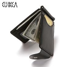 CUIKCA South Korea Style Money Clip Men Wallet Purse Ultrath