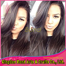 Top Grade Silk Straight Full Lace Wigs Brazilian Virgin Straight Wigs Glueless Human Hair Wigs For Black Woman Free Part