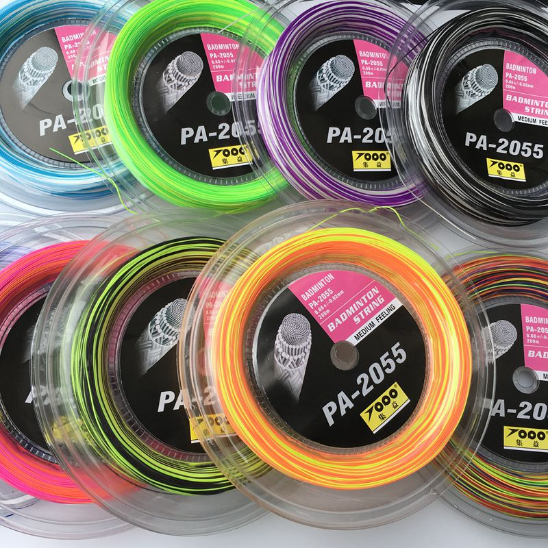 Free Shipping 1reel/lot Rainbow Badminton String Reel 200M