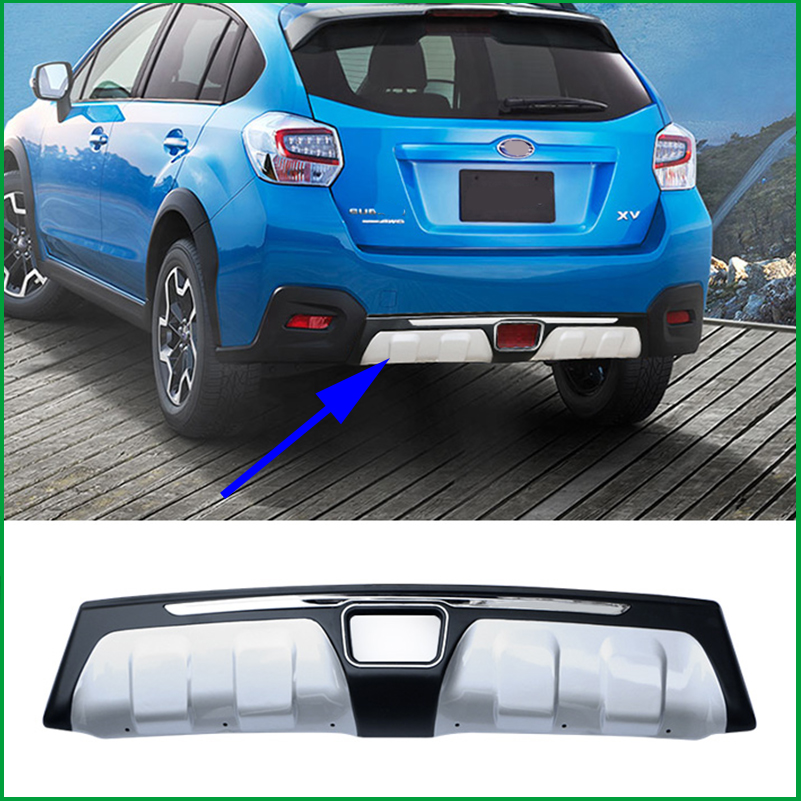 For Subaru Xv 2013 2016 Abs Rear Bumper Guard Diffuser Bumpers Protector Body Kit Bumper Rear Lip Rear Spoiler Cover Trim Chromium Styling Aliexpress
