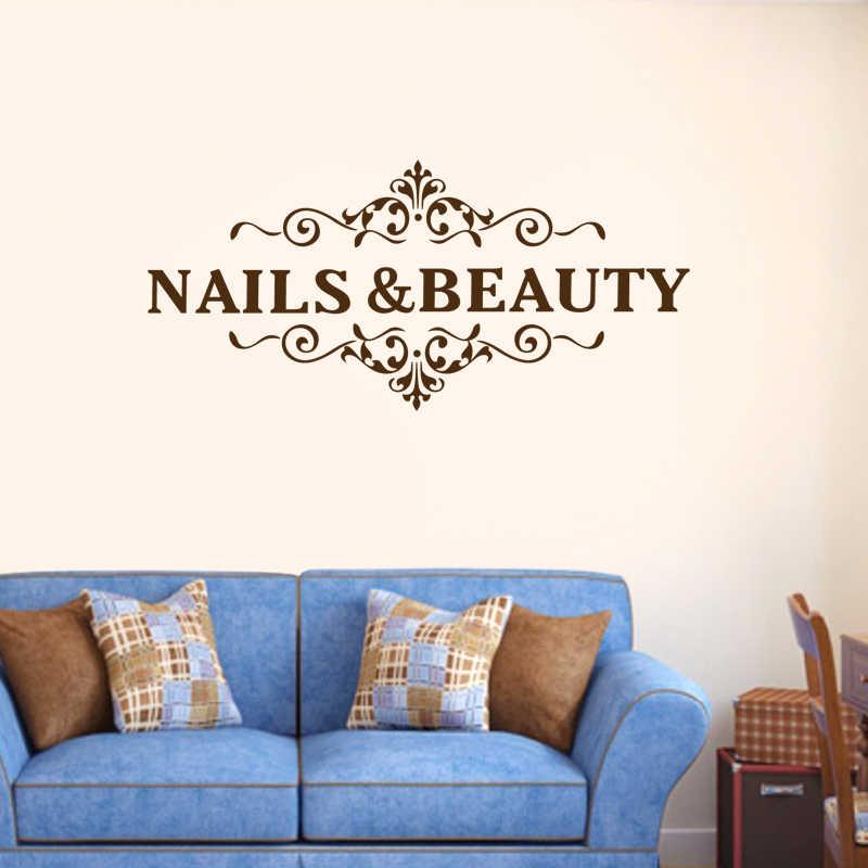 Nail Beauty Winkel Sticker Haar Salon Decal Neutrale Poster Vinyl Wall Art Decals Decor Windows Decoratie Beauty Decal