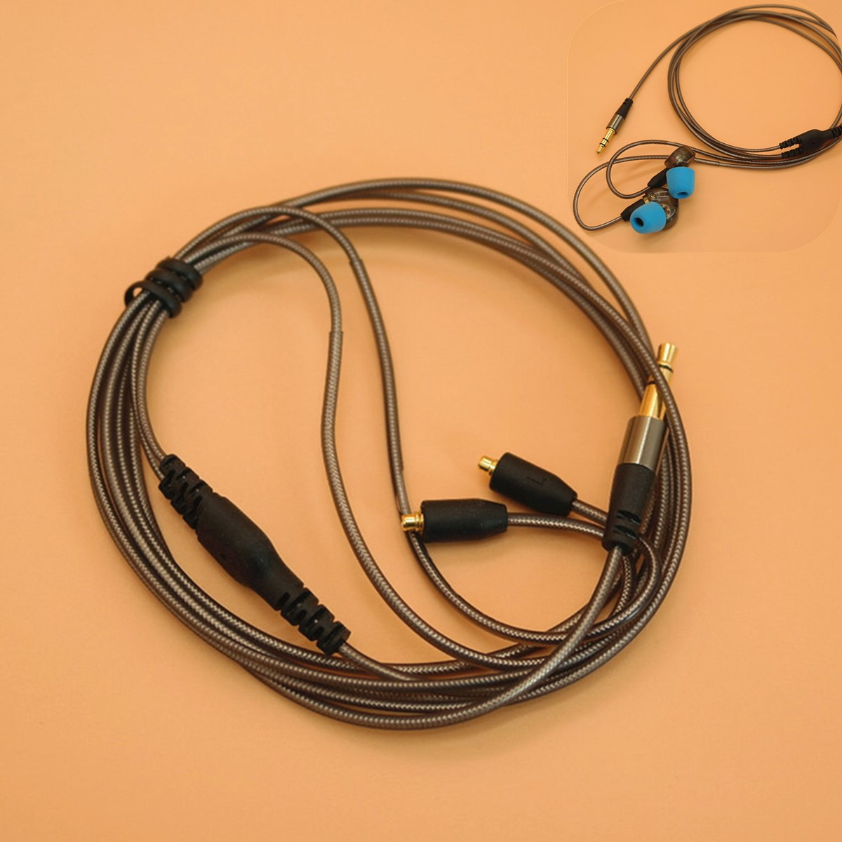 3.5mm Earphone Audio Cable for Shure/Headphone SE215 315 425 535 846 DIY Replacement Earphone 14 Cores