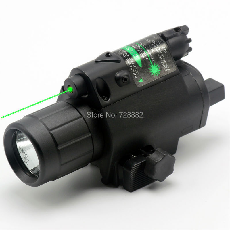 ФОТО Hunting 532nM Green Dot  Laser Sight Adjustable Mount with 200 Lumen LED Flashlight Laser Combo