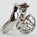 Stainless Steel Super Small Male Chastity Device Locked In Hard Metal Chastity Belt Sex toys A273