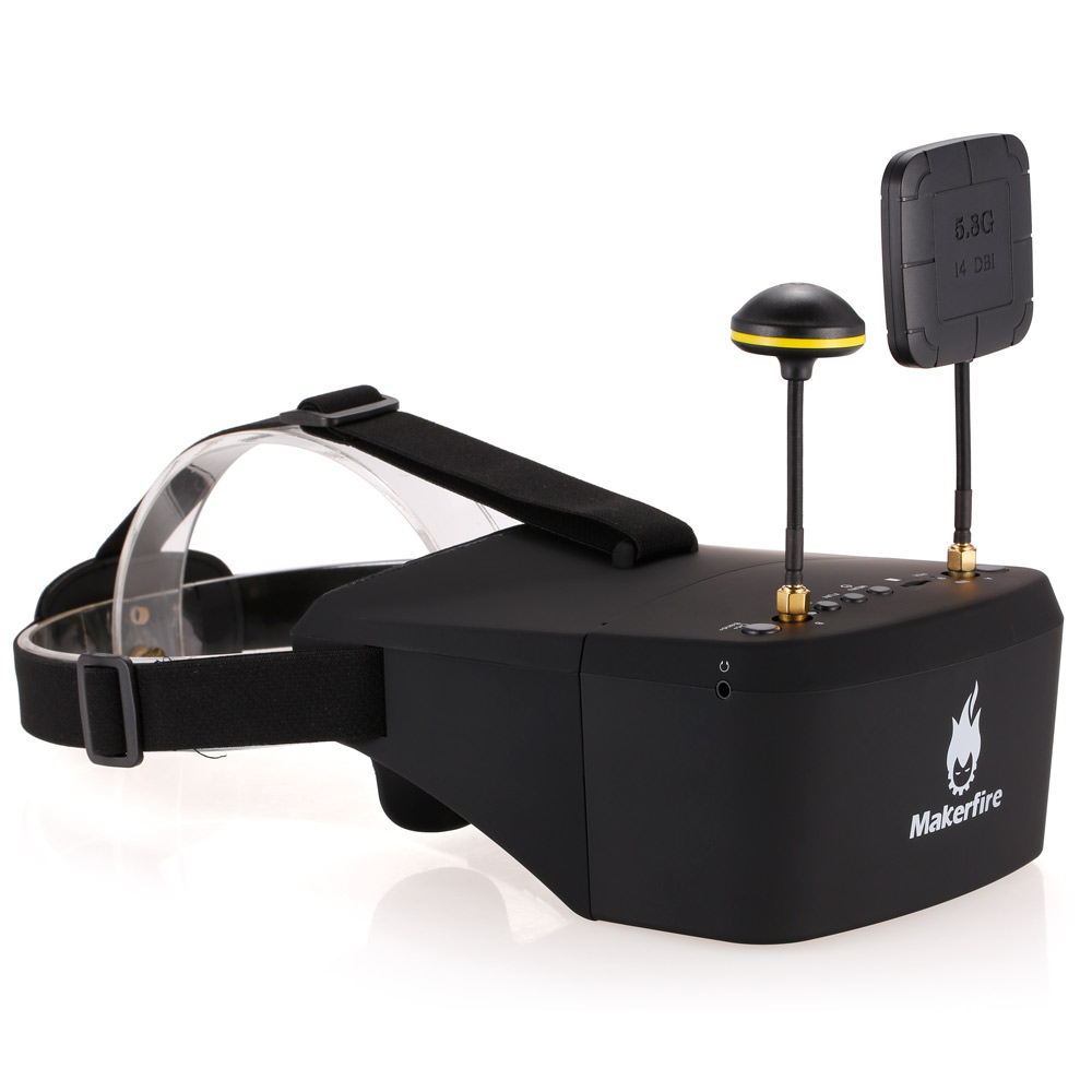 EV800D 5.8G 40CH Double Antenna FPV Goggles Video Glasses with DVR for QAV 250 220 210 For RC Model Racing Drone 3