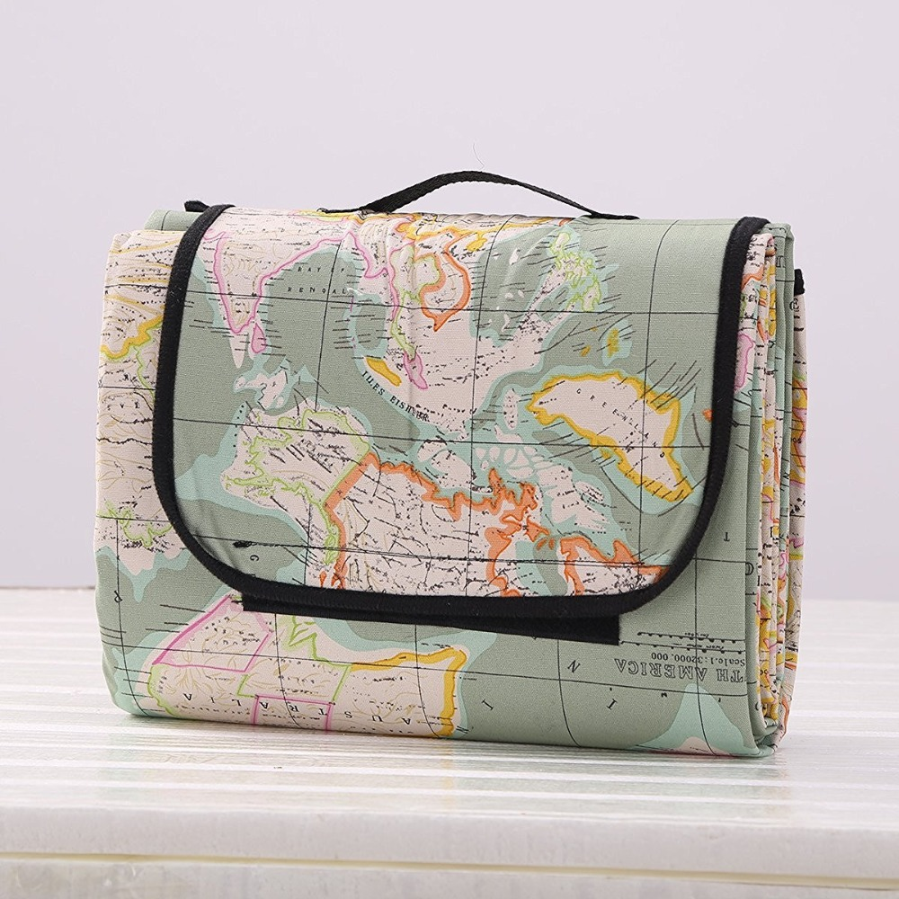 Multi functional picnic blanket outdoor camping baby climbing rug multi functional picnic blanket outdoor camping baby climbing rug beach travel play mat world map pattern itemhycdr19 in mat from home garden on gumiabroncs Images