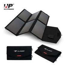 Allpowers солнечной энергии Зарядное устройство 5 В 12 В/18 В Портативный Панели солнечные Зарядное устройство для iPhone Samsung iPad 12 В автомобиля Батарея 18-19 В Ноутбуки и многое другое.