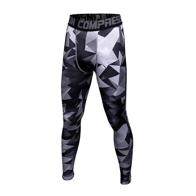24dc2078d9 Running Tights Men's Sports Leggins Pro Compression Pants Camouflage Print High  Elastic Running Tights Basketball Leggings