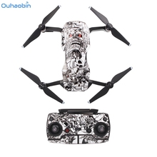 Waterproof PVC 3D Stickers Decal Skin Cover Protector For DJI Mavic Air Drone RC Apr17