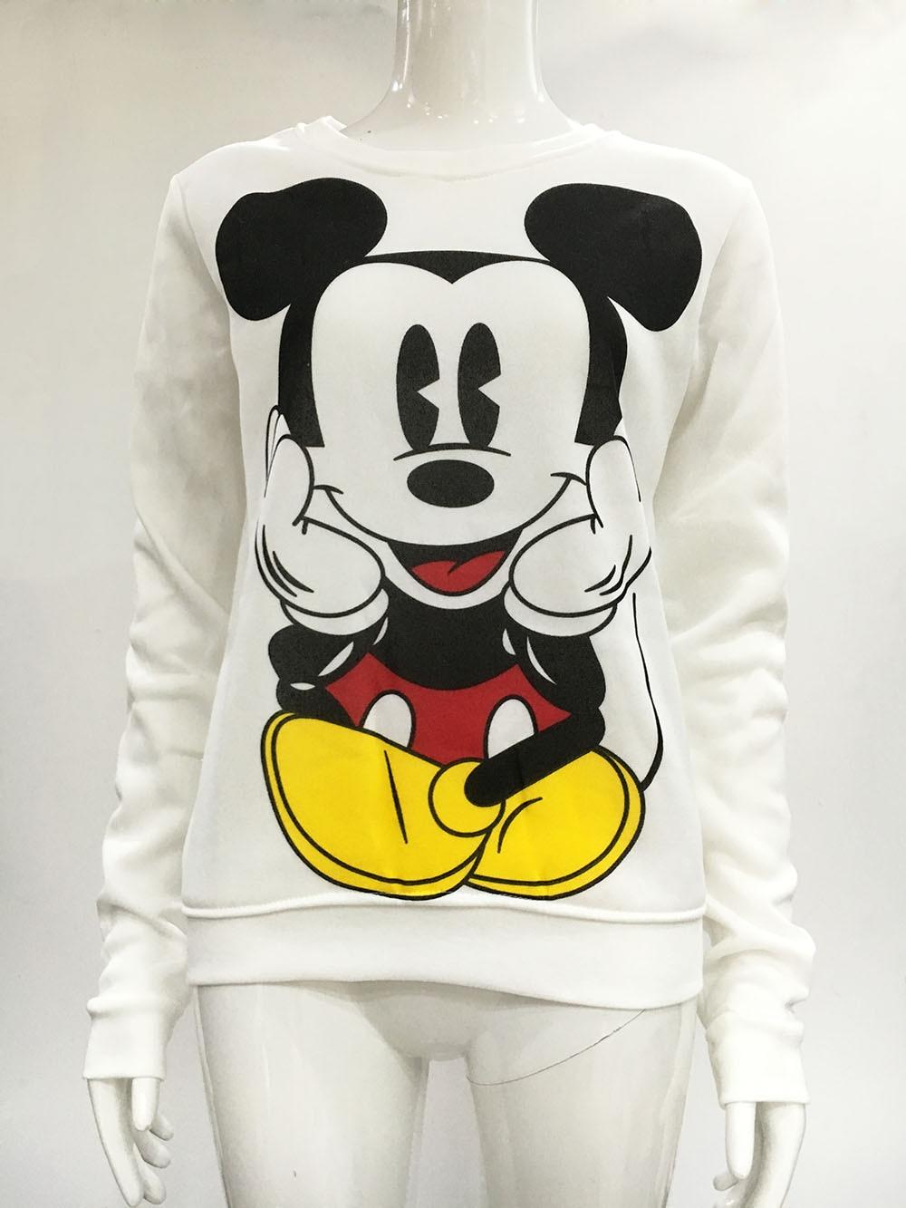 2016 Fashion Ny europæisk Mickey trykning Sweatshirt Hoodies - Dametøj - Foto 6