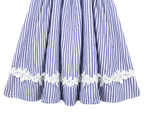 Image 3 - Free Shipping Baby Girls Kids Clothes Tutu Skirt Lace Flower Striped Ruffle Girl Skirts Children Long Cotton Pleated Skirt 0 14T