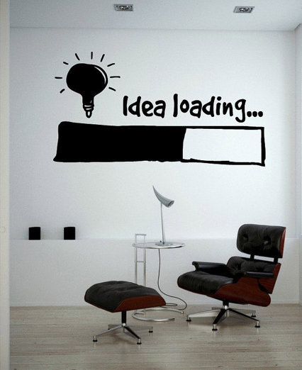 Idea Loading Wall Stickers Light Bulb Lamp Window Car DIY Sticker Decal Vinyl Silhouette ...