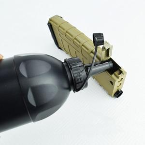 Image 3 - Bullet חפץ בקבוק מים ג ל חרוזים Blaster CS קרב כושר חיצוני פיינטבול אביזרי טעינה שחור