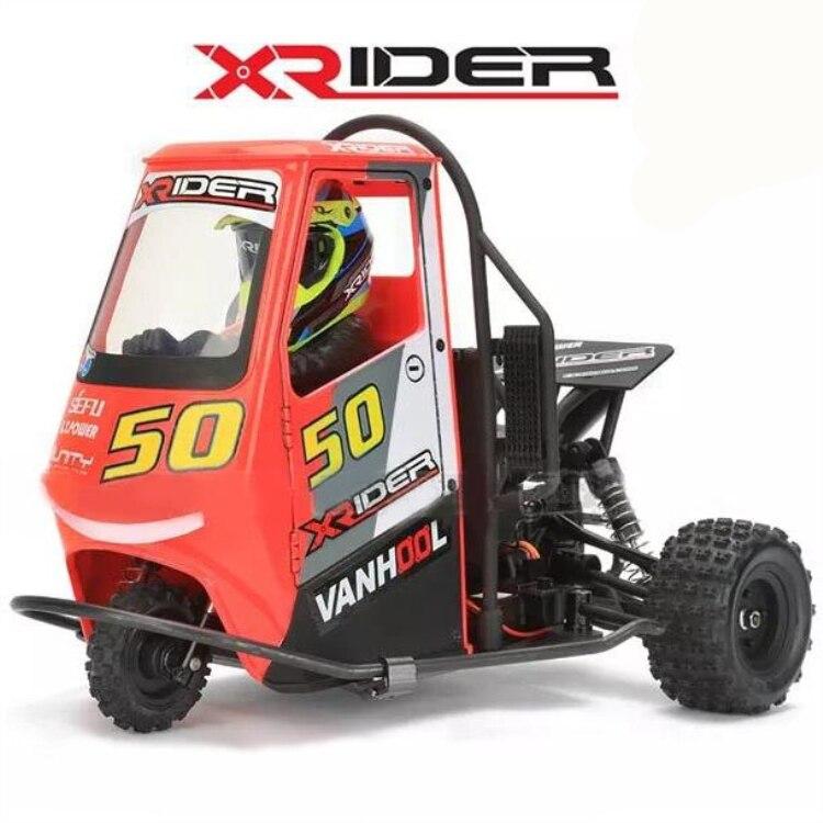 Voiture télécommandée RC 2.4G x-rider 1/8 Piaggio Ape 1:8 3WD voitures de dérive à piles pour enfants RTR