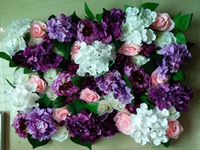 SPR New!wedding pink purple stage flower wall backdrop events ceremony arch flowers table centerpiece decoratios Free shipping
