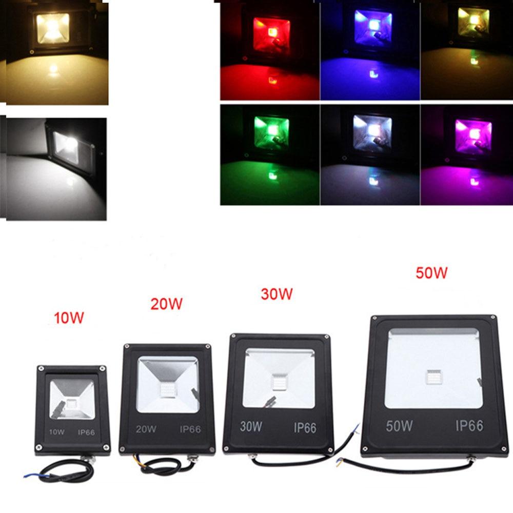 2pcs/lot free shipping ip65 waterproof 85-265V 10W 20W 30W 50w RGB FloodLight LED Flood lighting Outdoor Lamp Lighting