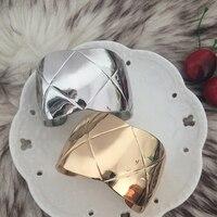 Расширяемая bileklik широкий браслет минималистский браслет ромб манжета бреде повязку манжеты pulseiras indian jewelry